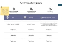 Activities Sequence Ppt PowerPoint Presentation Styles Example Topics