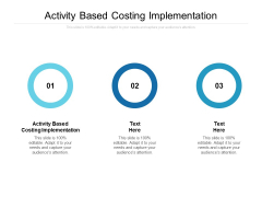 Activity Based Costing Implementation Ppt PowerPoint Presentation Show Graphics Pictures Cpb
