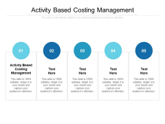 Activity Based Costing Management Ppt PowerPoint Presentation Slides Background Image Cpb