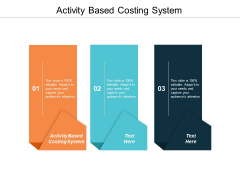 Activity Based Costing System Ppt Powerpoint Presentation Slides Files Cpb