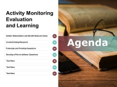 Activity Monitoring Evaluation And Learning Ppt PowerPoint Presentation Pictures Samples