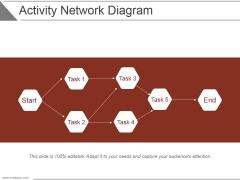 Activity Network Diagram Ppt PowerPoint Presentation Deck