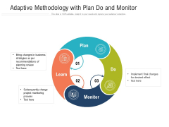 Adaptive Methodology With Plan Do And Monitor Ppt Powerpoint Presentation Slides Gallery Pdf