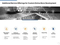 Additional Service Offerings For Custom Online Store Development Ppt PowerPoint Presentation Layouts Aids