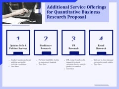 Additional Service Offerings For Quantitative Business Research Proposal Ppt PowerPoint Presentation Ideas Styles PDF