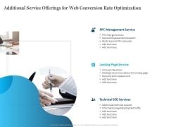 Additional Service Offerings For Web Conversion Rate Optimization Ppt PowerPoint Presentation Styles Maker PDF