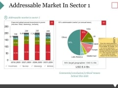 Addressable Market In Sector 1 Ppt PowerPoint Presentation Outline Shapes