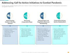 Addressing Call For Action Initiatives To Combat Pandemic Rules PDF
