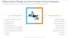 Addressing Role Of Manager And Owner Associated To Product Development Template PDF