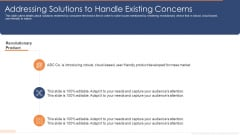 Addressing Solutions To Handle Existing Concerns Ppt Styles Examples PDF