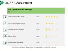 Adkar Assessment Ppt PowerPoint Presentation Gallery Guidelines