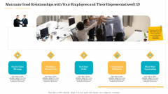 Administrative Regulation Maintain Good Relationships With Your Employees And Their Representatives Ppt PowerPoint Presentation Slides Example PDF