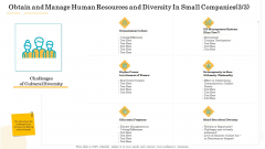 Administrative Regulation Obtain And Manage Human Resources And Diversity In Small Companies Culture Icons PDF