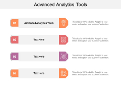 Advanced Analytics Tools Ppt PowerPoint Presentation Pictures Themes Cpb