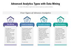 Advanced Analytics Types With Data Mining Ppt PowerPoint Presentation Slides Skills PDF