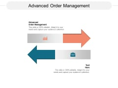 Advanced Order Management Ppt PowerPoint Presentation Professional Themes Cpb