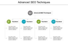 Advanced SEO Techniques Ppt PowerPoint Presentation Summary Portrait Cpb