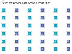 Advanced Service Data Analysis Icons Slide Infographics PDF