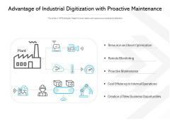 Advantage Of Industrial Digitization With Proactive Maintenance Ppt PowerPoint Presentation Pictures Portrait
