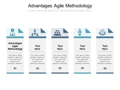 Advantages Agile Methodology Ppt PowerPoint Presentation File Model Cpb