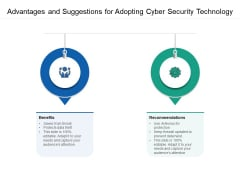 Advantages And Suggestions For Adopting Cyber Security Technology Ppt PowerPoint Presentation Gallery Example Topics PDF