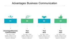 Advantages Business Communication Ppt PowerPoint Presentation Professional Cpb