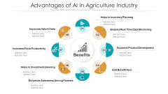 Advantages Of AI In Agriculture Industry Ppt PowerPoint Presentation File Mockup PDF