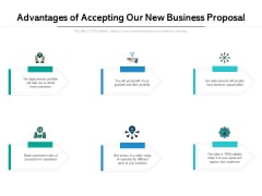 Advantages Of Accepting Our New Business Proposal Ppt PowerPoint Presentation Professional Show PDF
