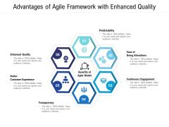 Advantages Of Agile Framework With Enhanced Quality Ppt PowerPoint Presentation File Master Slide PDF