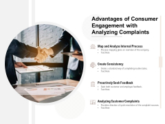 Advantages Of Consumer Engagement With Analyzing Complaints Ppt PowerPoint Presentation Portfolio File Formats