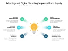 Advantages Of Digital Marketing Improves Brand Loyalty Ppt PowerPoint Presentation Icon Layouts