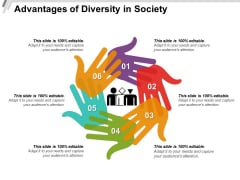 Advantages Of Diversity In Society Ppt PowerPoint Presentation Inspiration Graphics Template PDF