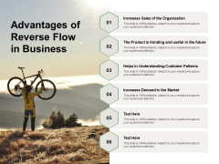 Advantages Of Reverse Flow In Business Ppt PowerPoint Presentation Pictures Microsoft