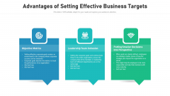 Advantages Of Setting Effective Business Targets Ppt Summary Designs PDF