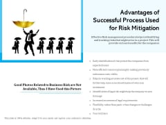 Advantages Of Successful Process Used For Risk Mitigation Ppt PowerPoint Presentation Slides PDF