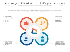 Advantages Of Workforce Loyalty Program With Icons Ppt PowerPoint Presentation Outline Slide Download PDF