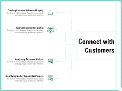 Advertisement Administration Connect With Customers Ppt Infographics Ideas PDF