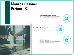 Advertisement Administration Manage Channel Partner Ppt Show Graphics Template PDF