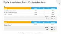 Advertisement Plan Proposal Presentation Digital Advertising Search Engine Advertising Ppt Visual Aids Inspiration PDF