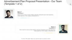 Advertisement Plan Proposal Presentation Our Team Experience Ppt Layouts Slide Download PDF
