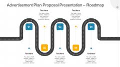 Advertisement Plan Proposal Presentation Roadmap Ppt Icon Clipart Images PDF