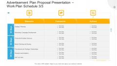 Advertisement Plan Proposal Presentation Work Plan Schedule Services Ppt File Format PDF