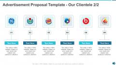 Advertisement Proposal Template Our Clientele Gride Ppt Portfolio Slide Download PDF