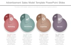 Advertisement Sales Model Template Powerpoint Slides