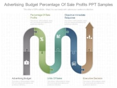Advertising Budget Percentage Of Sale Profits Ppt Samples