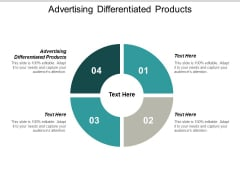 Advertising Differentiated Products Ppt PowerPoint Presentation Infographics Graphics Cpb