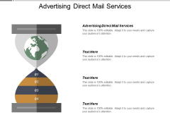 Advertising Direct Mail Services Ppt PowerPoint Presentation File Slide Cpb
