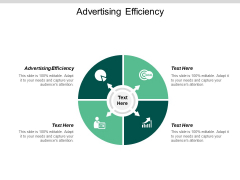 Advertising Efficiency Ppt PowerPoint Presentation Ideas Format Ideas Cpb