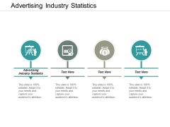 Advertising Industry Statistics Ppt PowerPoint Presentation Outline Diagrams Cpb