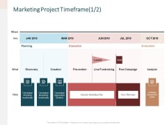 Advertising Proposal Marketing Project Timeframe Date Ppt File Brochure PDF